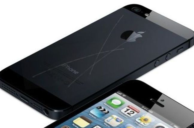 Fake scratched iPhone 5