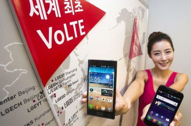 VoLTE compatible: LG Revolution