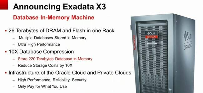The Exadata X3 database system
