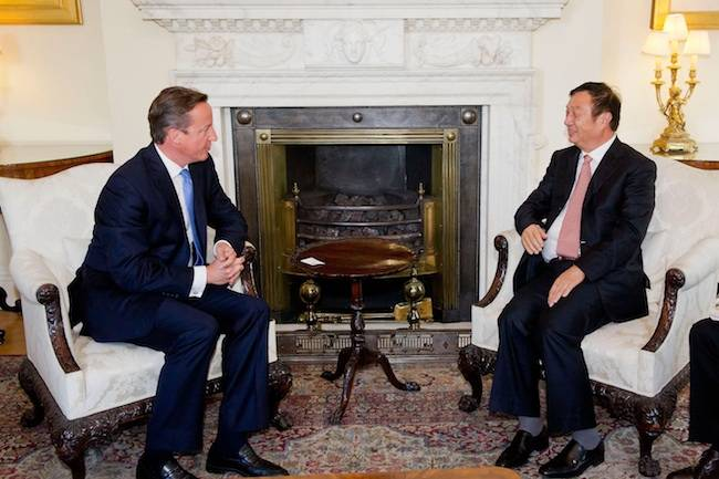 David Cameron, Prime Minister, meets Ren Zhengfei, founder and CEO of Huawei Technologies, in Downing Street, 11th September, 2012.