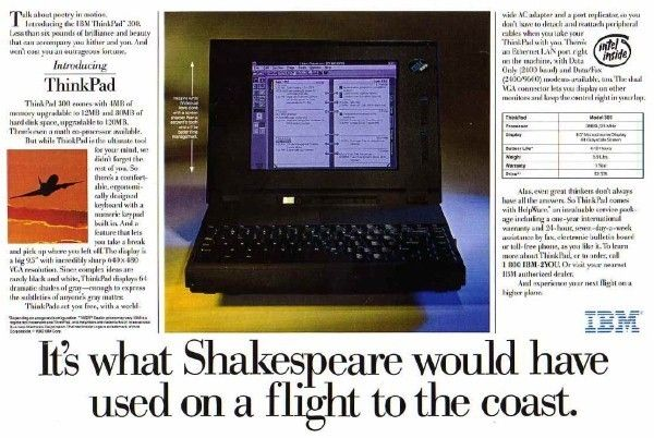 IBM ThinkPad 300 advert