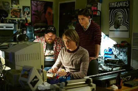 Jordan Raskopoulos as Trax, Alex Williams as Julian Assange and Callan Mcauliffe as Prime Suspect