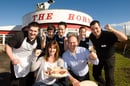 The staff and owners of The Horn celebrate their win. Pic: The Courier