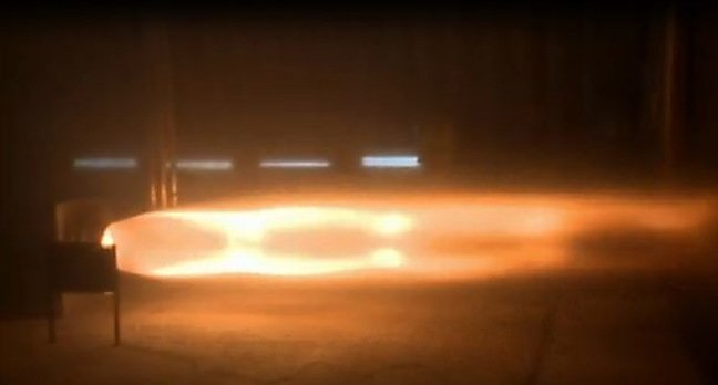 A video still of the rocket test. Pic: Bloodhound SSC