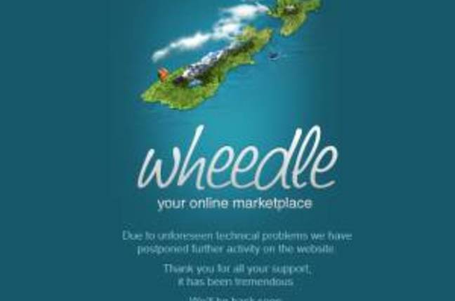 New Zealand Auction site Wheedle apologises for being down