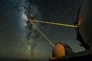 Keck Telescopes on Mauna Kea, Hawaii, observing the galactic centre