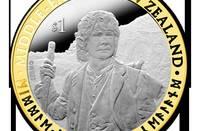 One of New Zealand Post's commemorative Hobbit coins