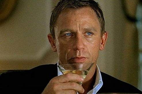 Vodka drink from casino royale