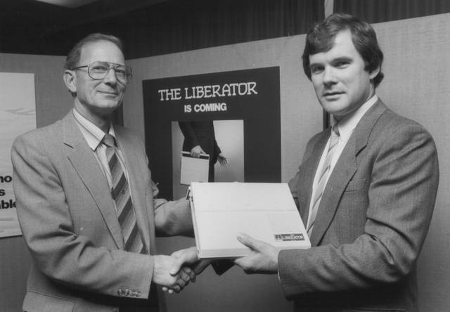 Bernard Terry and Derek Williams at the Liberator CCTA launch