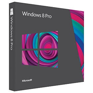 Windows 8 Pro Upgrade Edition retail box
