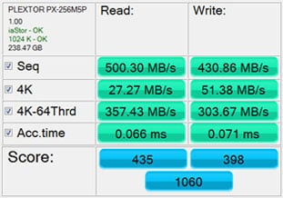Oct '12 AS SSD Benchmark Test Score