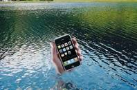 iPhone in the Lake