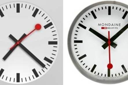 Swiss iOS clock