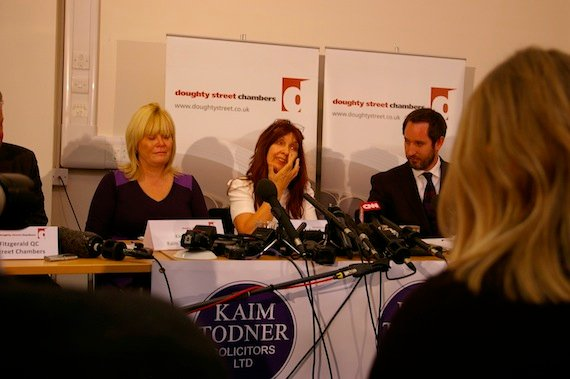 Janis Sharp, mother of Gary McKinnon speaks at press conference, credit The Register
