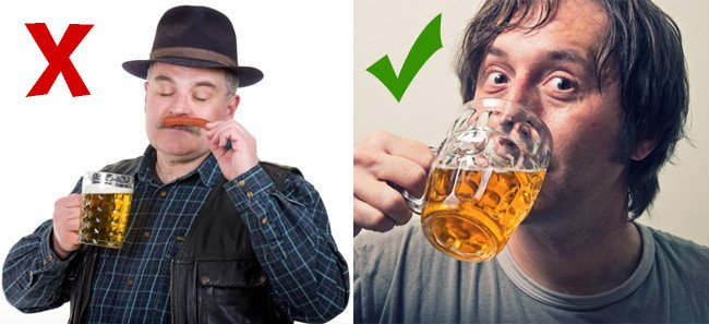 German drinking half a litre versus Brit drinking a pint