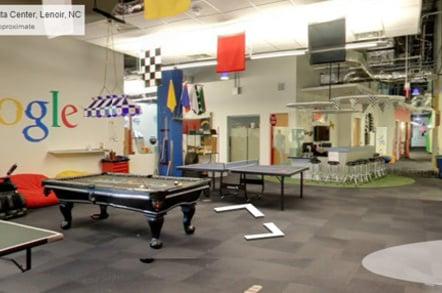 Chillout area in Google's data center