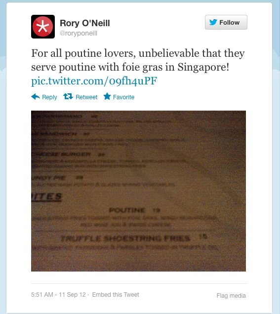 A tweet from Rory O'Neill, credit screengrab twitter