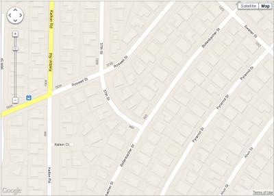 Google Maps after Footprints added, credit Google