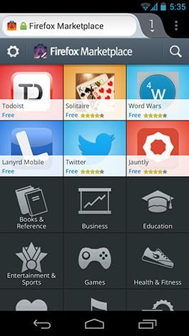 Mozilla debuts Firefox Marketplace for Android apps • The