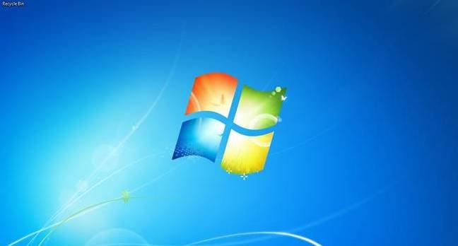 Windows 7 start screen