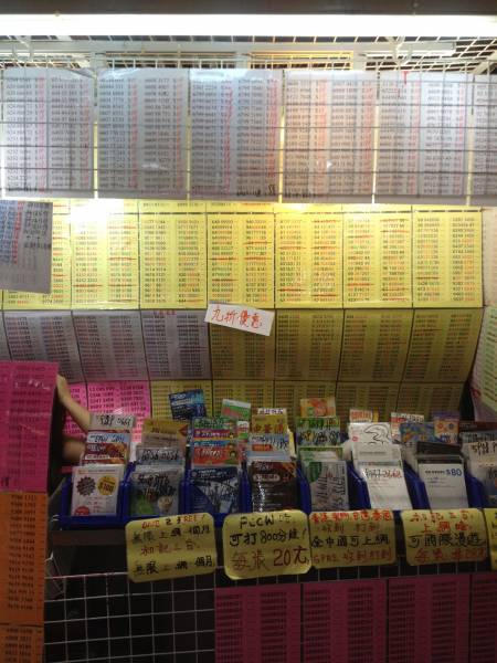 Sham Shui Po market Hong Kong mobile phone numbers
