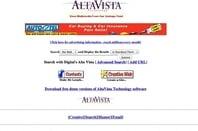AltaVista screen shot 1996