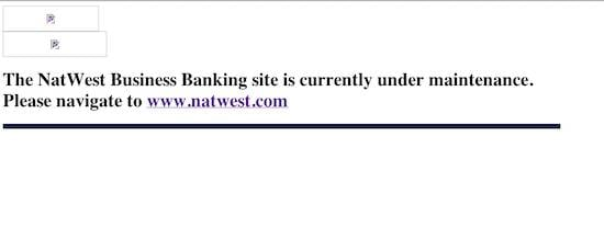 Natwest bankline error, credit screengrab
