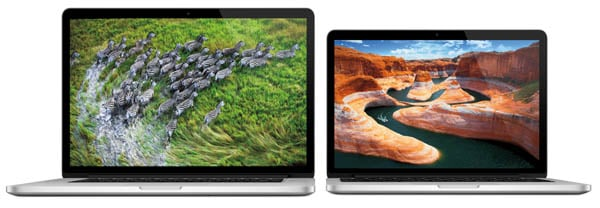 15-inch and 13-inch MacBook Pros with Retina Display