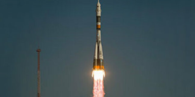 The Soyuz TMA-06M launched from the Baikonur Cosmodrome in Kazakhstan to the International Space Station at 6:51 a.m. EDT. NASA astronaut Kevin Ford and Russian cosmonauts Oleg Novitskiy and Evgeny Tarelkin now are safely in orbit. credit: NASA