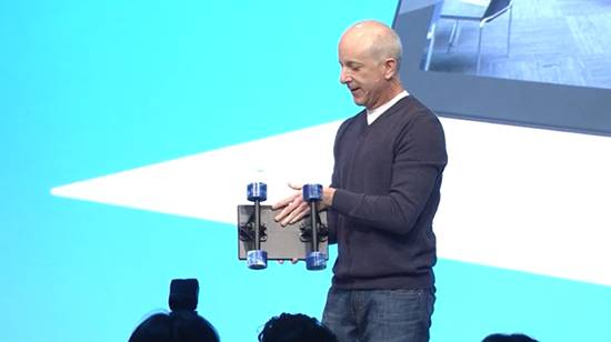 Microsoft's Steve Sinofsky with his beloved Surface tablet