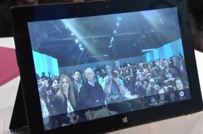 Surface camera on kickstand