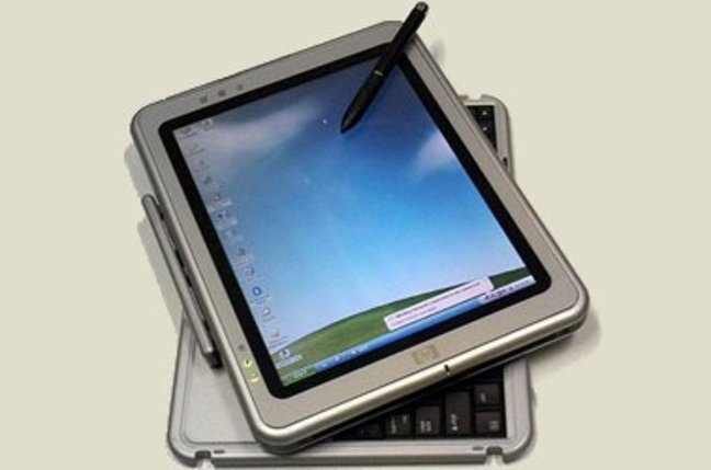 Photo of HP Tablet PC running Windows XP Tablet PC Edition