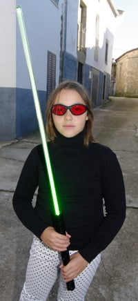 Katarina with the lightsaber