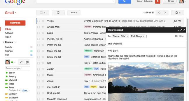 Gmail Compose UI upgrade