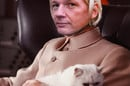 Julian Assange as Blofeld