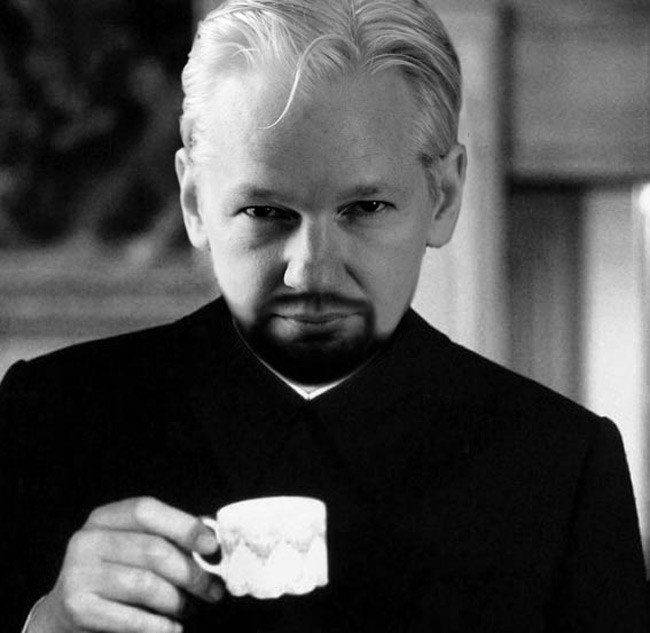 Julian Assange as Hugo Drax