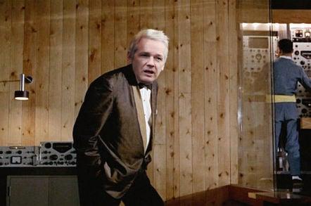 Julian Assange as Goldfinger
