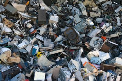 Mountain of computer junk