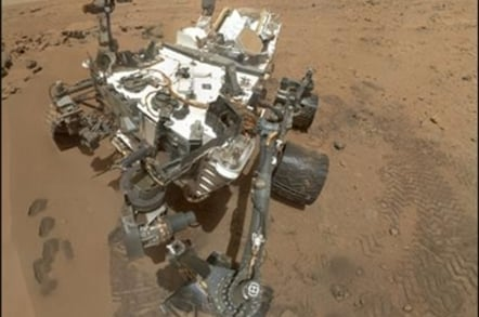 Curiosity self-portrait at Rocknest in the Gale Crater