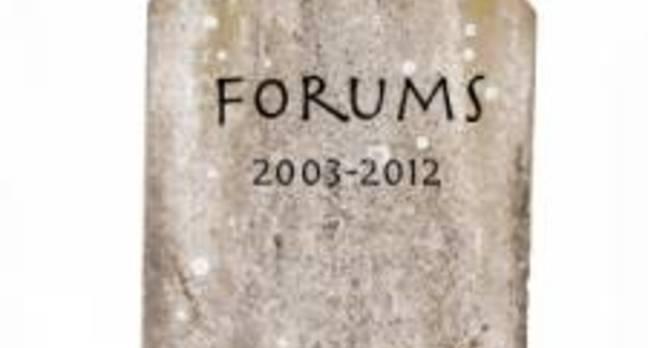 Atlassian's Forums tombstone