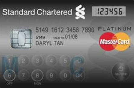 MasterCard's DisplayCard includes a hard token one-time password generator