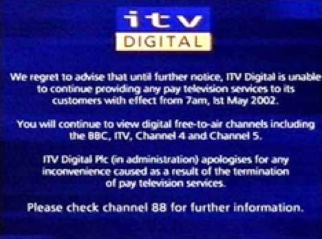 Game over for ITV Digital