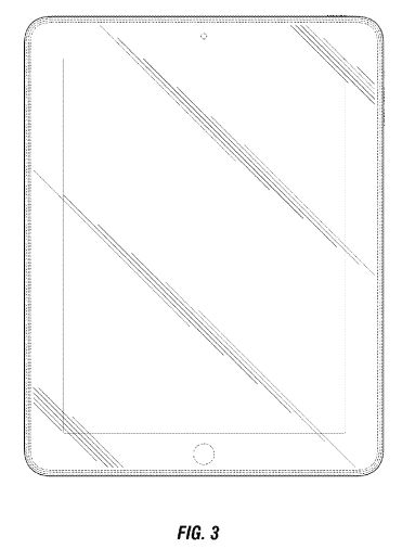Apple's design patent covers the solid black line