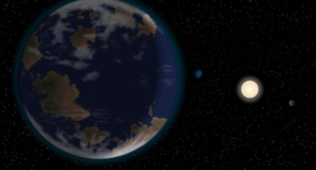 Super-Earth HD40307g with its host star