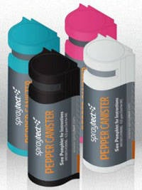 Spraytect pepper-spray iPhone case cartridges