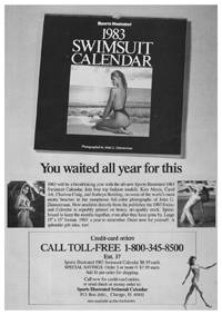 January 3, 1983 Time magazine – Sports Illustrated Swimsuit Edition ad