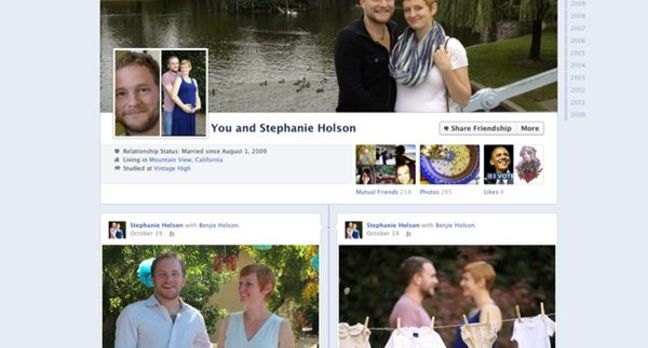 Facebook's new couple page, credit Facebook