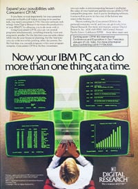 January 1983 Byte magazine – Concurrent CP/M ad
