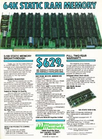 January 1983 Byte magazine - 64K static RAM ad