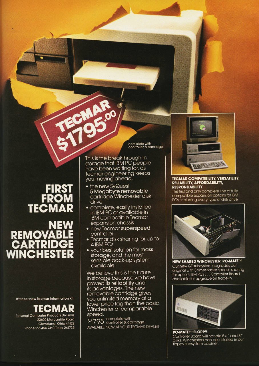 The Early Days Of Pcs As Seen Through Dead Trees Register Circuit Boards Find New Life Notebooks Soul Magazine January 1983 Byte Tecmar Removable Winchester Disk Ad